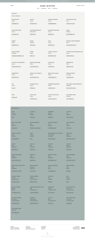 Shopify esme winter Richard Sanderson Ecommerce grid based Stationery letterpress The Printer's Son