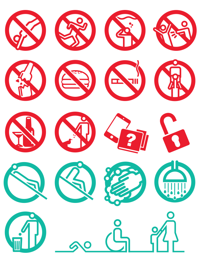 piscine Pool signalisation batiment pictogrammes pictos