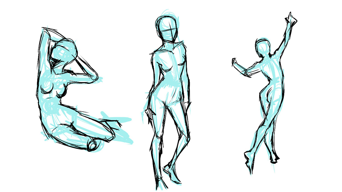 Studying The Human Figure on Behance