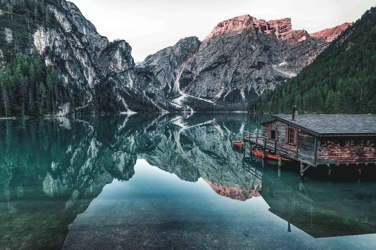 alps lake dolomites RoadTrip mountains reflections light