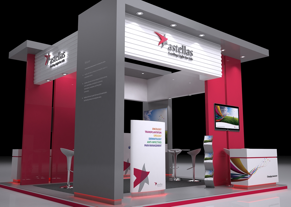Basic Exhibition Booth : Astellas pharma booth on behance