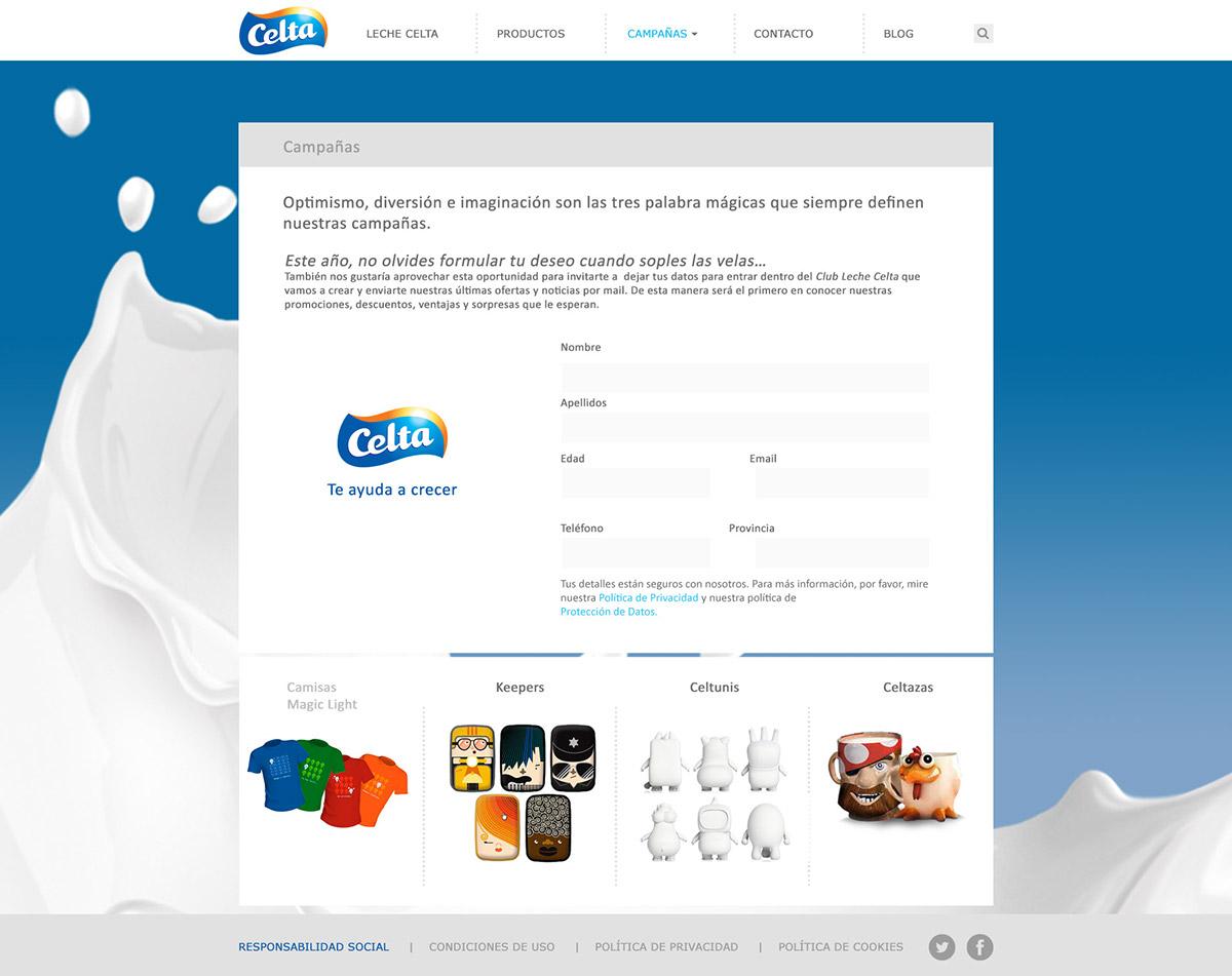 Web design for milk manufacturer