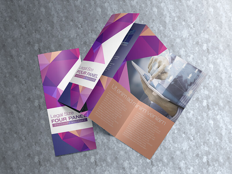 Trying To Find Mockup Of A Four Panel Brochure Present Your Print Designs Project Or Showcase On Printing Company Sites