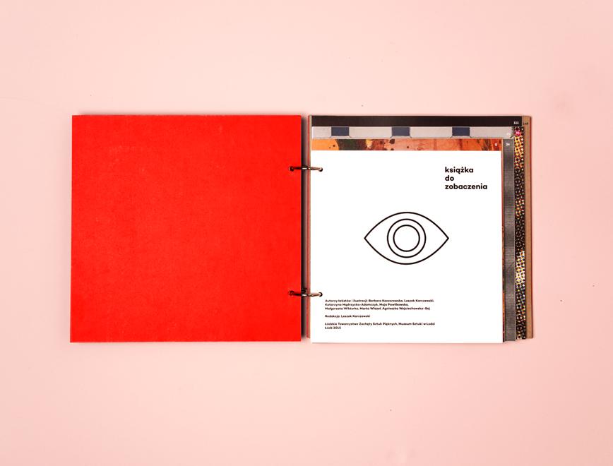 book cover art museum design object Education Workshop kids red reflexblue