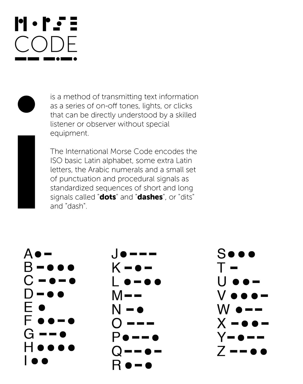font Typeface morse code system algorithm circle dots Dash call comunication