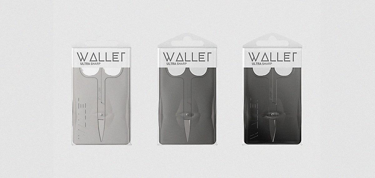 scissors package design metal long-term WALLET nail scissors portability CMYK product design