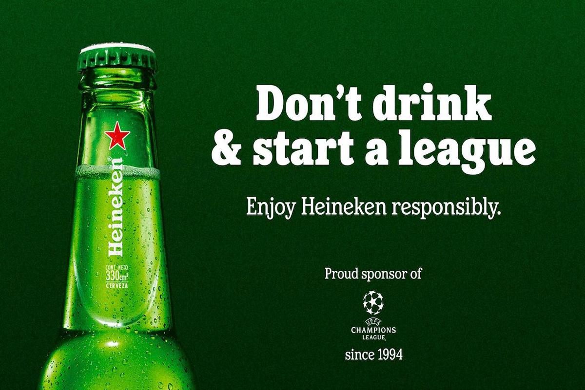 beer campaign champion football heineken instagram reactive social super league twitter