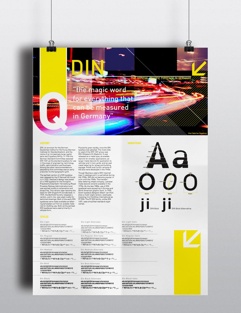 Typeface din german