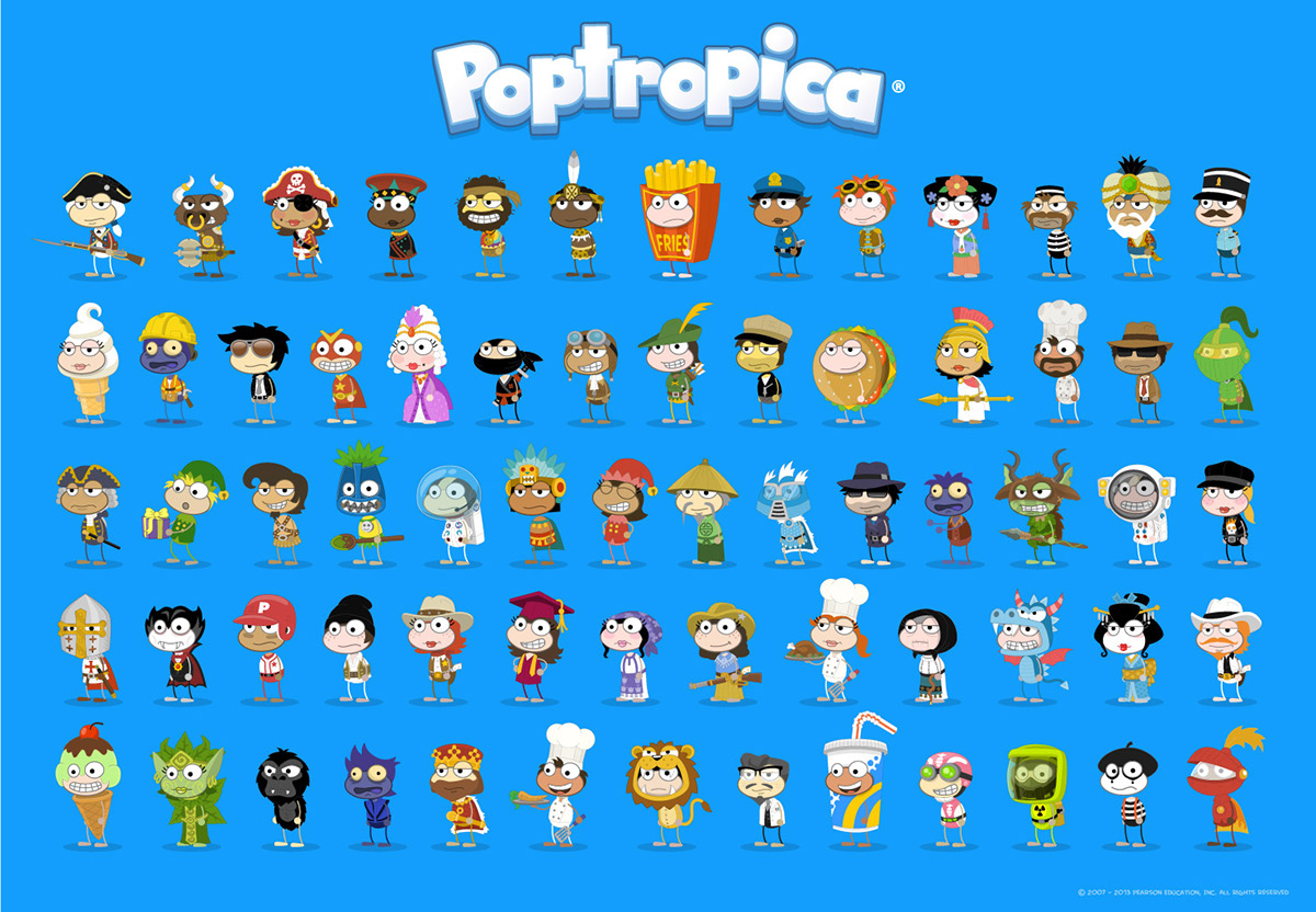 poptropica character design animation on behance