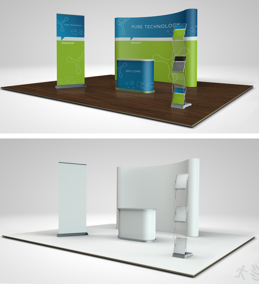 Pop Up Exhibition Stand Mockup Free : Trade show booth mock up on behance