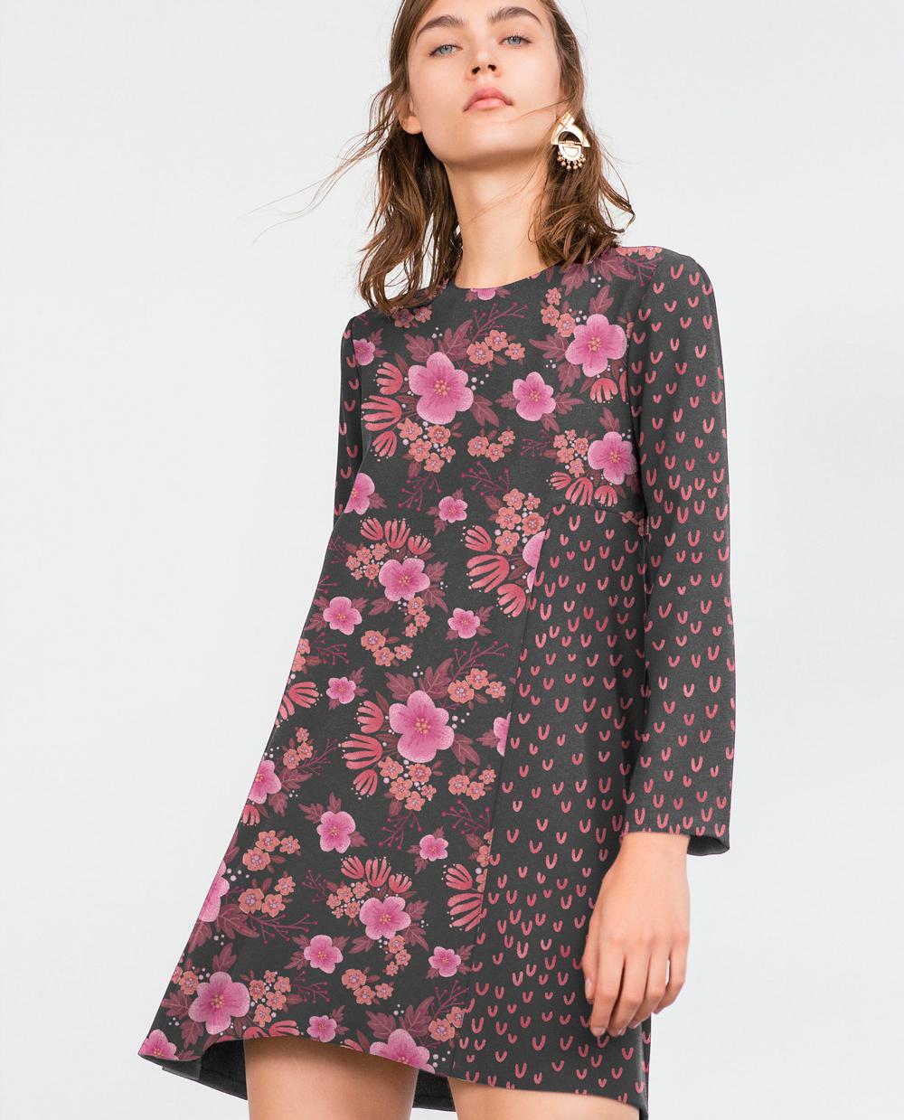 Flowers floral textile design  textile Bouquet geometric