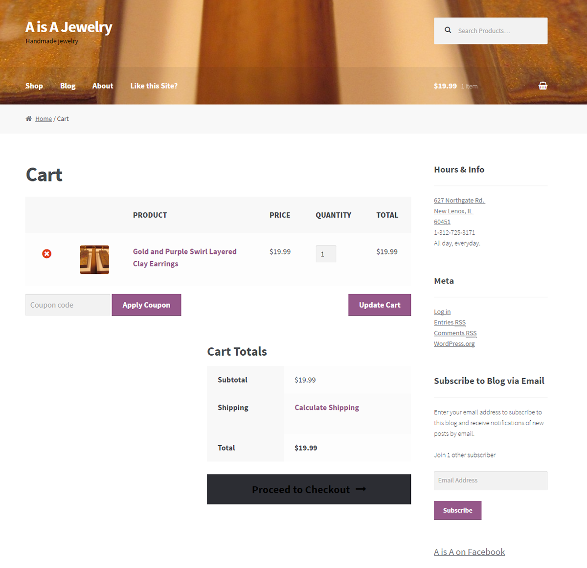 A is A Jewelry Woo Commerce Site