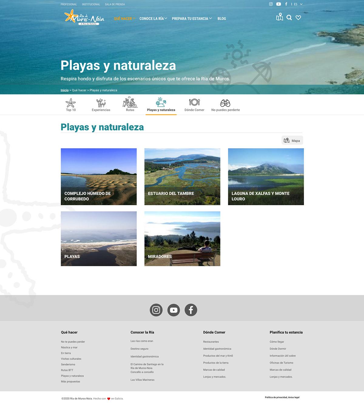 prototype touristic website ux/ui design