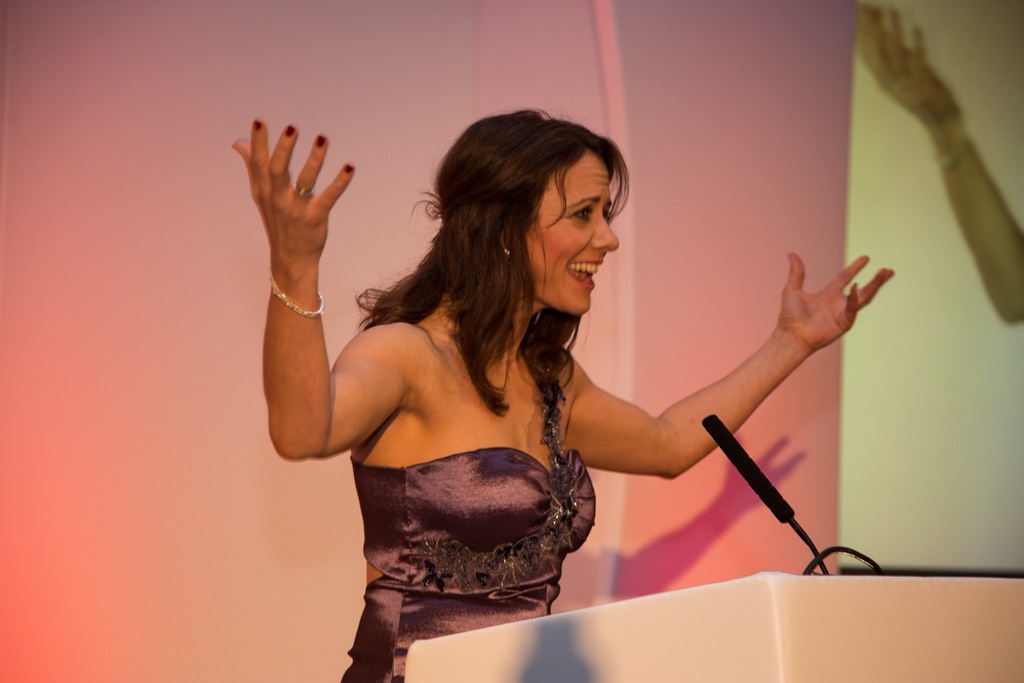 Lucy Kite at the Midlands Business Awards