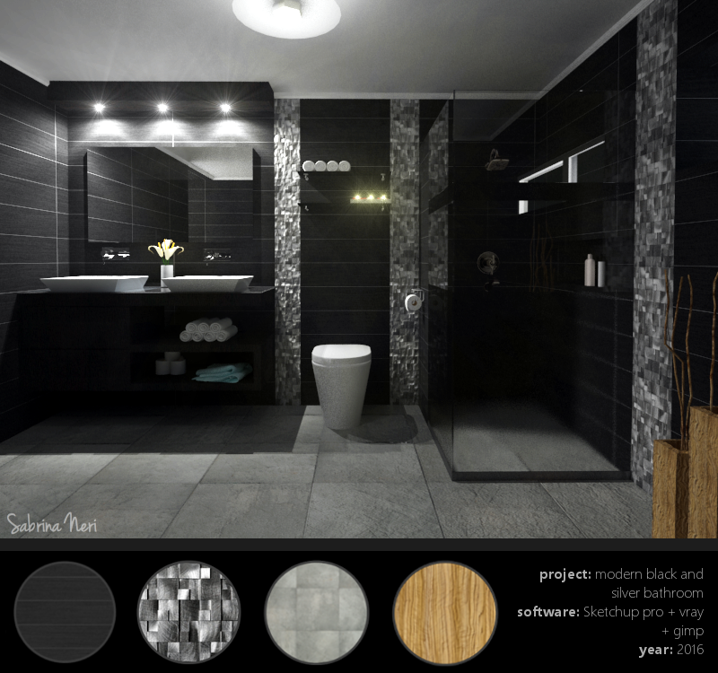 Black White And Silver Bathroom: Modern Black And Silver Bathroom On Behance