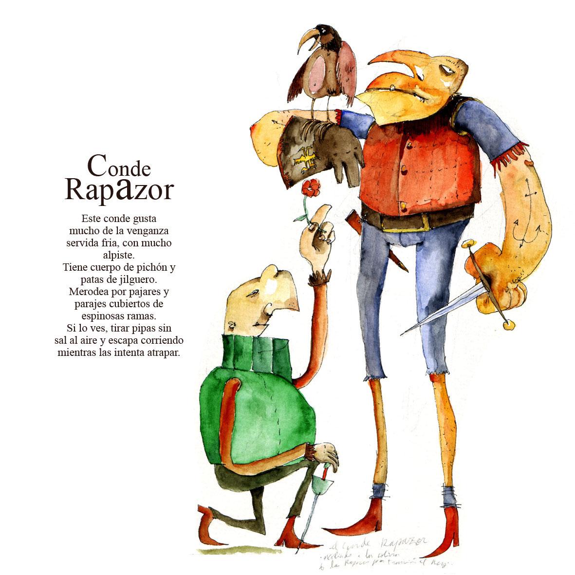 ilustracion personajes acuarela