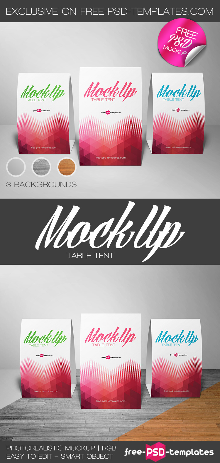 free table tent mock up in psd on behance