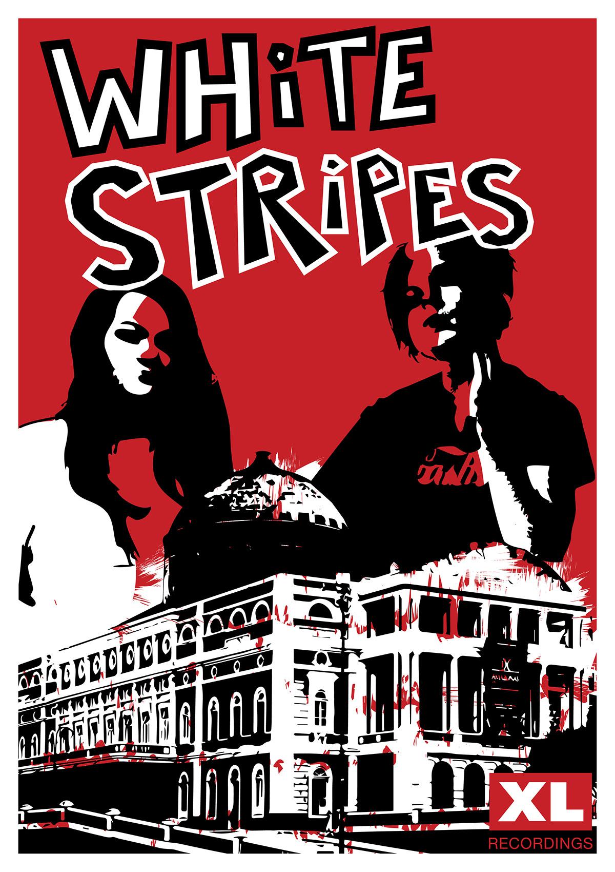 Xl Recordings White Stripes Poster Unit 2 On Behance