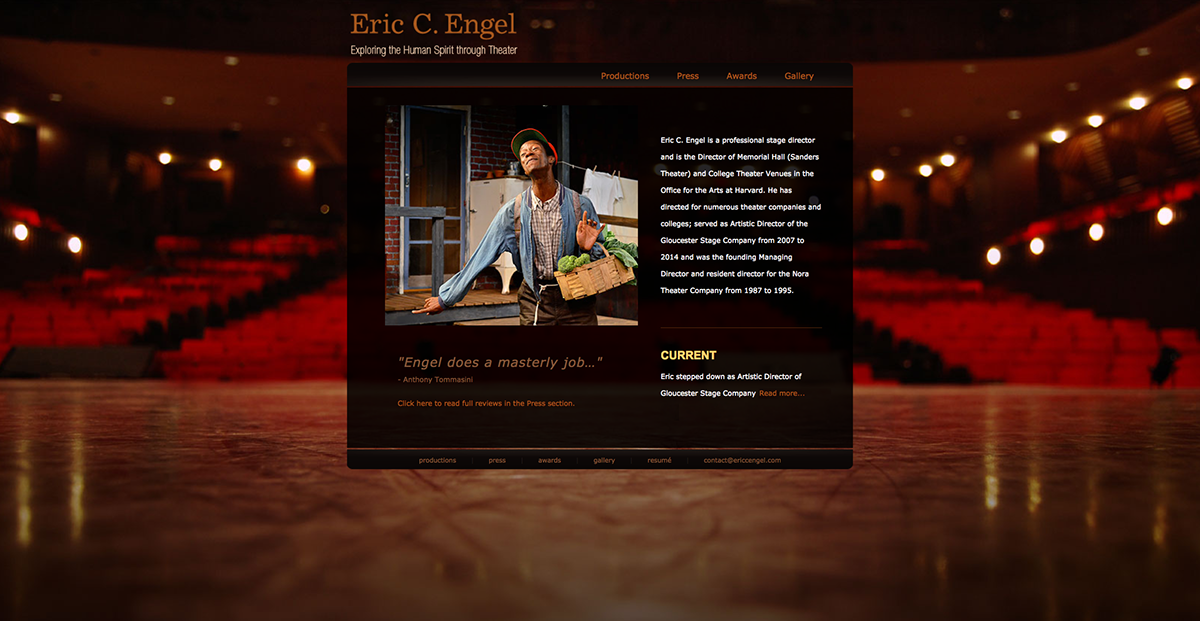 Harvard Stage,Gloucester theater,Eric C Engel,theater direction,HTML,css,Web Design ,the v gallery,baby greens,art beyond walls
