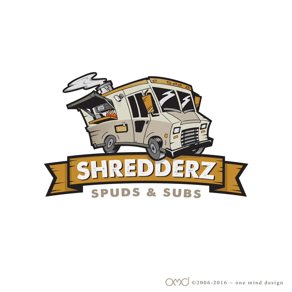 Shredderz food truck logo on behance for Food truck design app