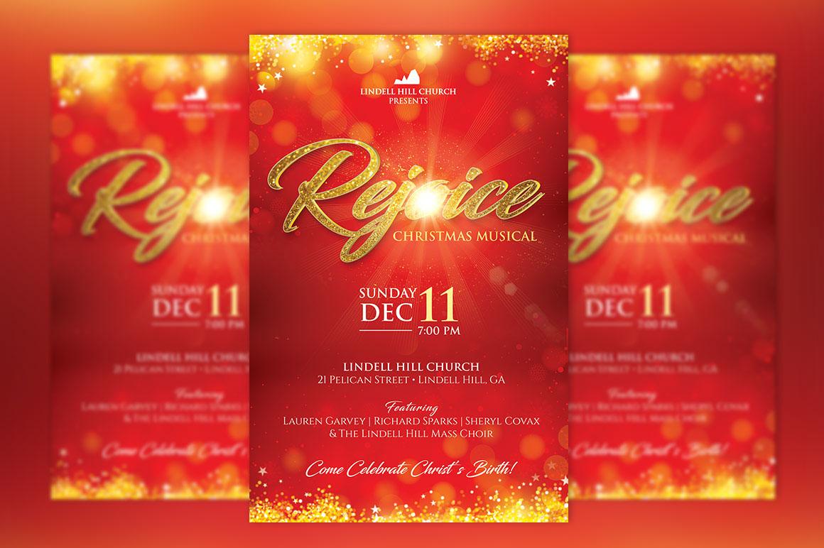 Rejoice Christmas Flyer Poster Template On Behance