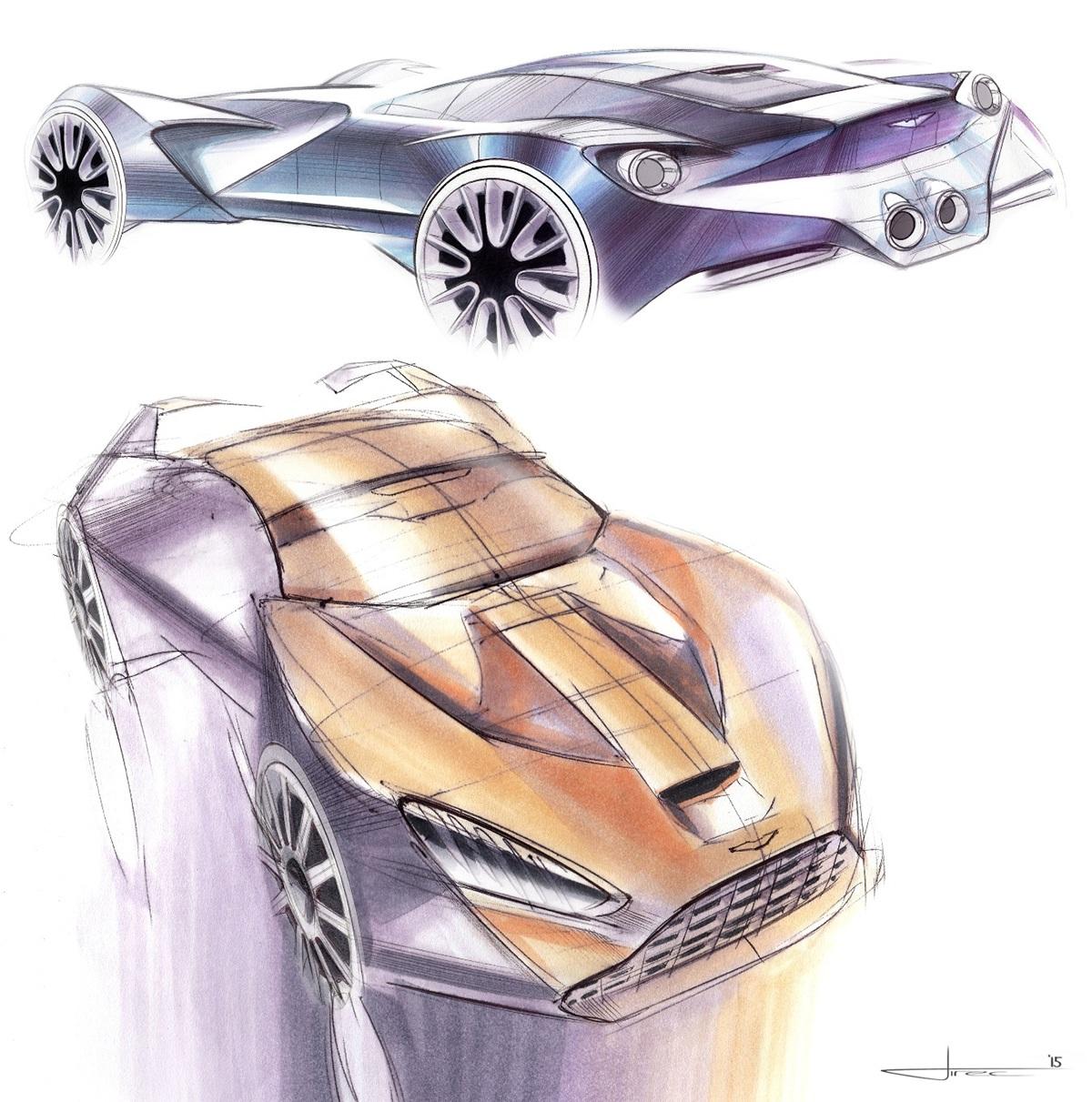 """Aston Martin Sketch: Aston Martin """"Tech-07"""" Sketches On Behance"""