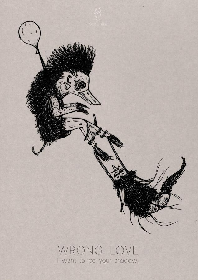 black & white feeling feelings Show monster monstrer Montrer Fur
