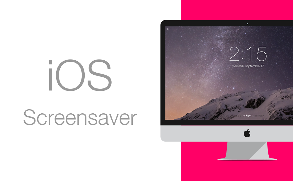 ios7 screensaver Lockscreen application mac metro osx syrah Mavericks 10.10 future UI ive