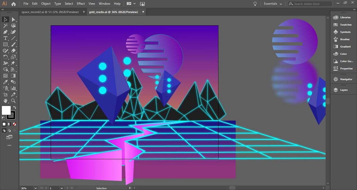 Synthwave Album Design on Behance