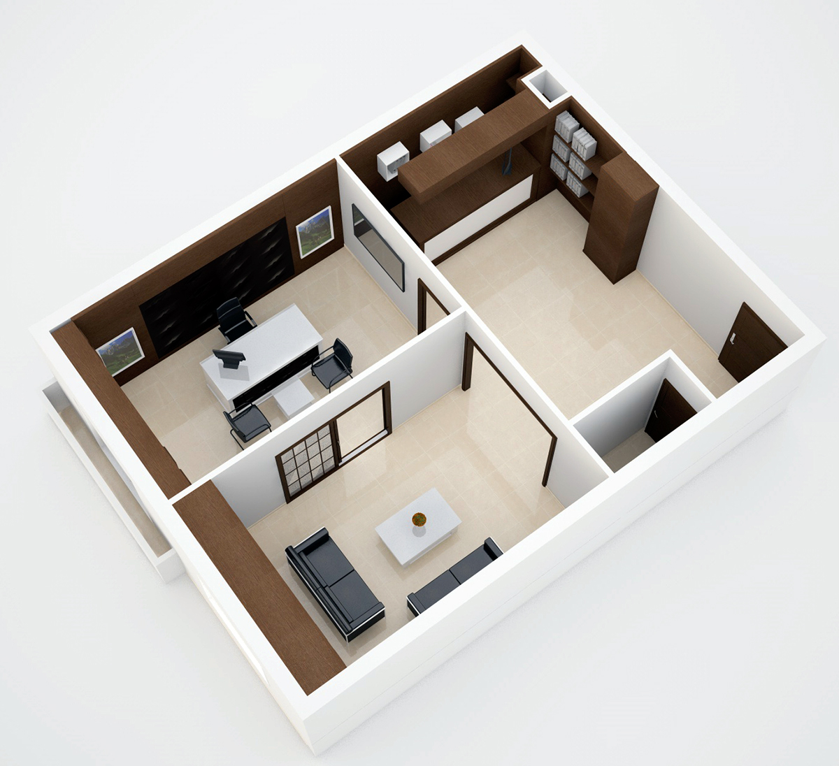 design architecture interior design  Office Design wood design modern style design