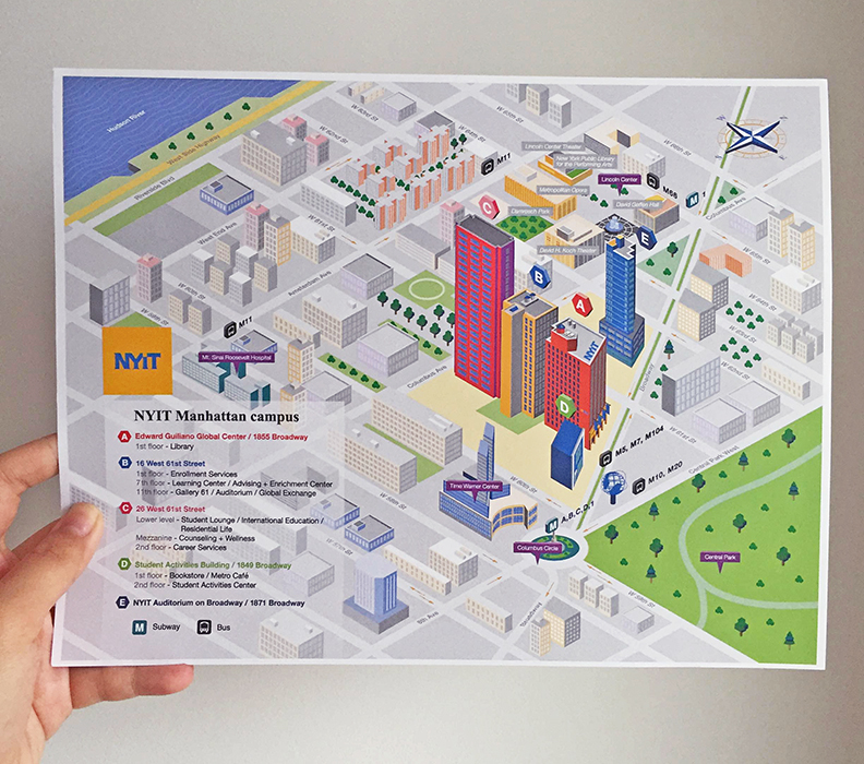 new york institute of technology // campus map on behance