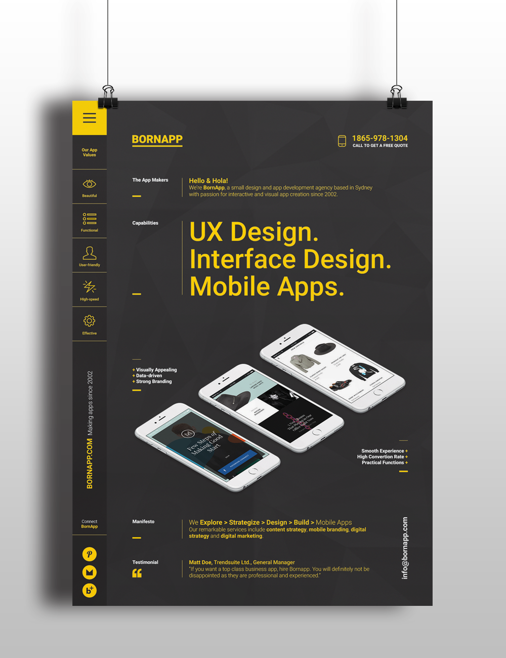 Mobile app poster templates on behance for Blueprint app free