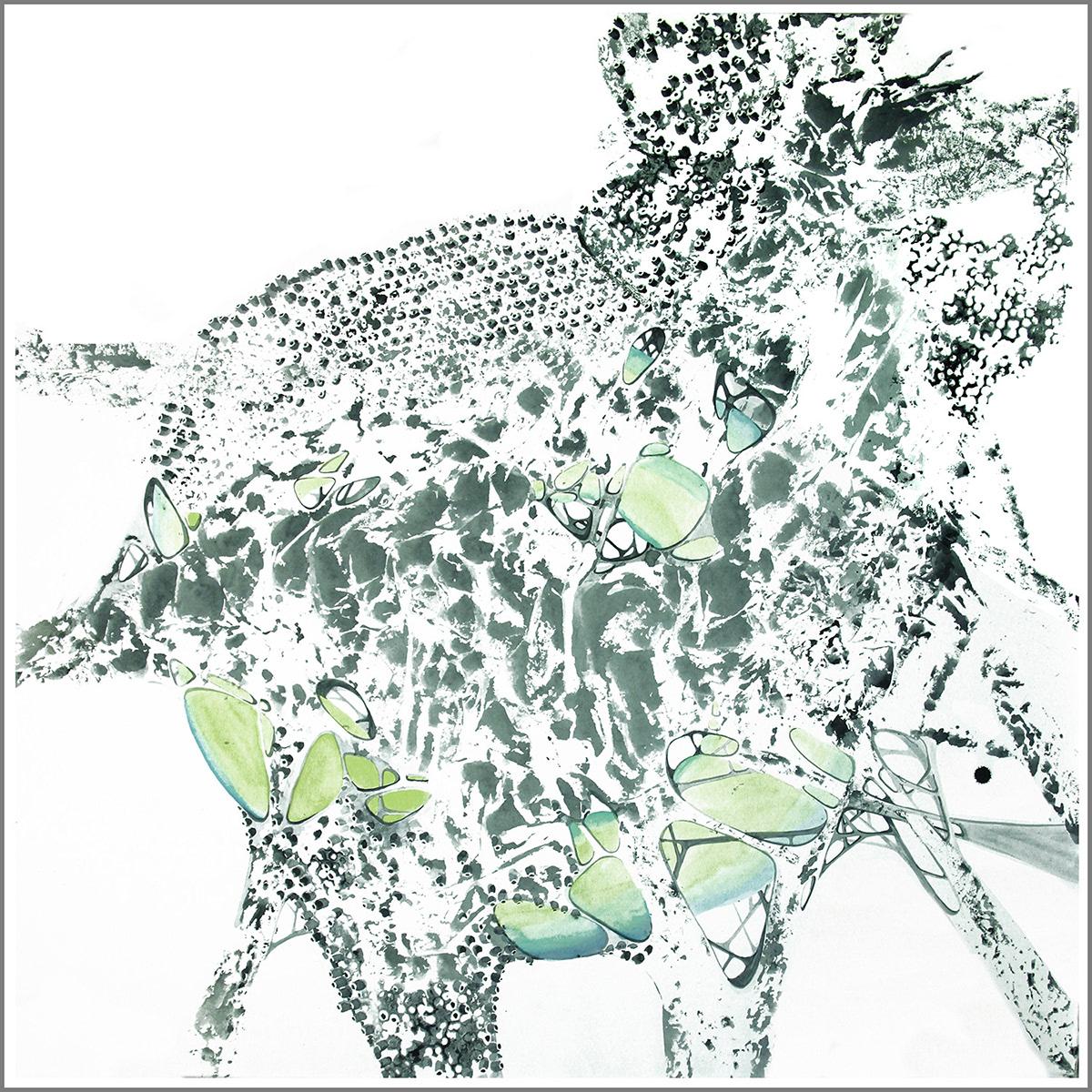 concept art creative watercolor графика дизайн картина концепт креатив рисунок Сад камней