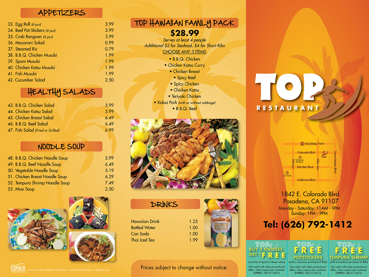 Take out menu designs on behance for Take out menu