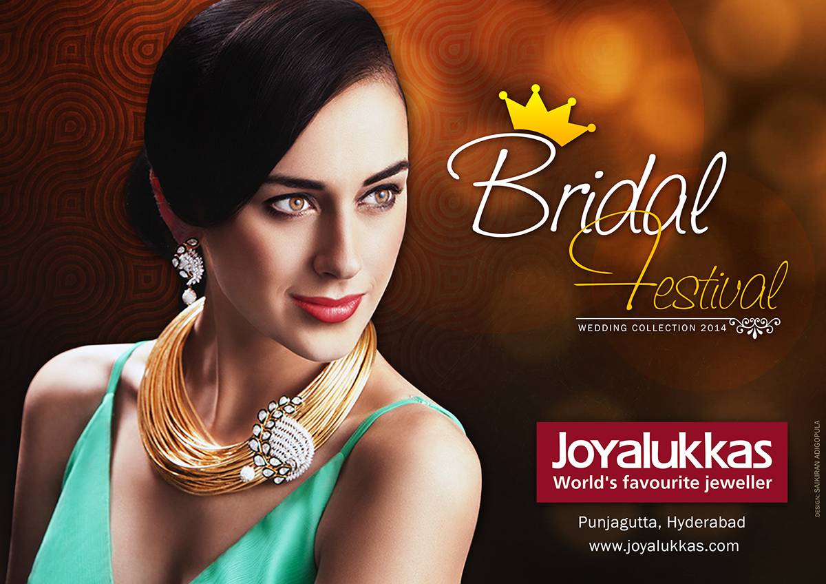 joyalukkas bridal festival on behance