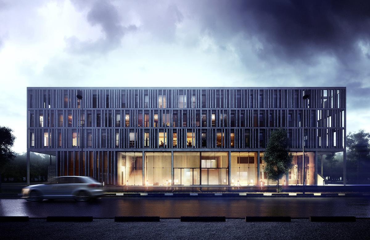 Maison du batiment d 39 aquitaine ffb on behance for Batiment architectural