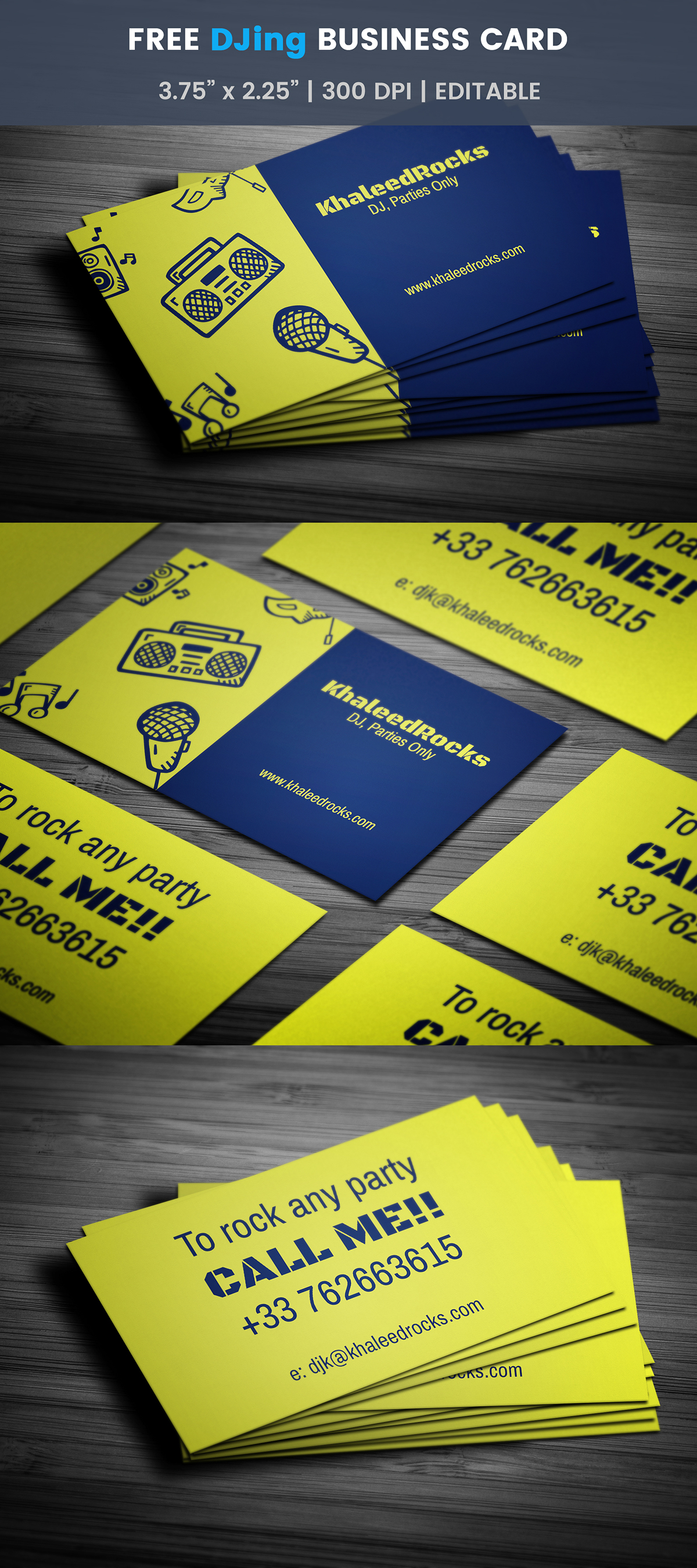 Free dj business card template on student show free dj business card template flashek Images