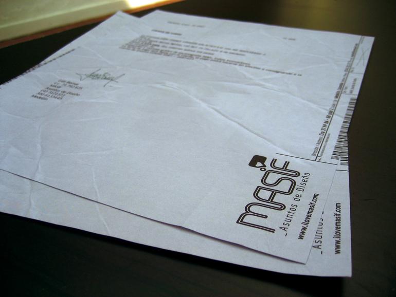 masif logo ID business card stationary print letterhead medellin colombia