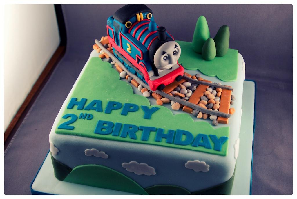 Admirable Andrea Hillman Thomas The Tank Engine Birthday Cake Personalised Birthday Cards Sponlily Jamesorg