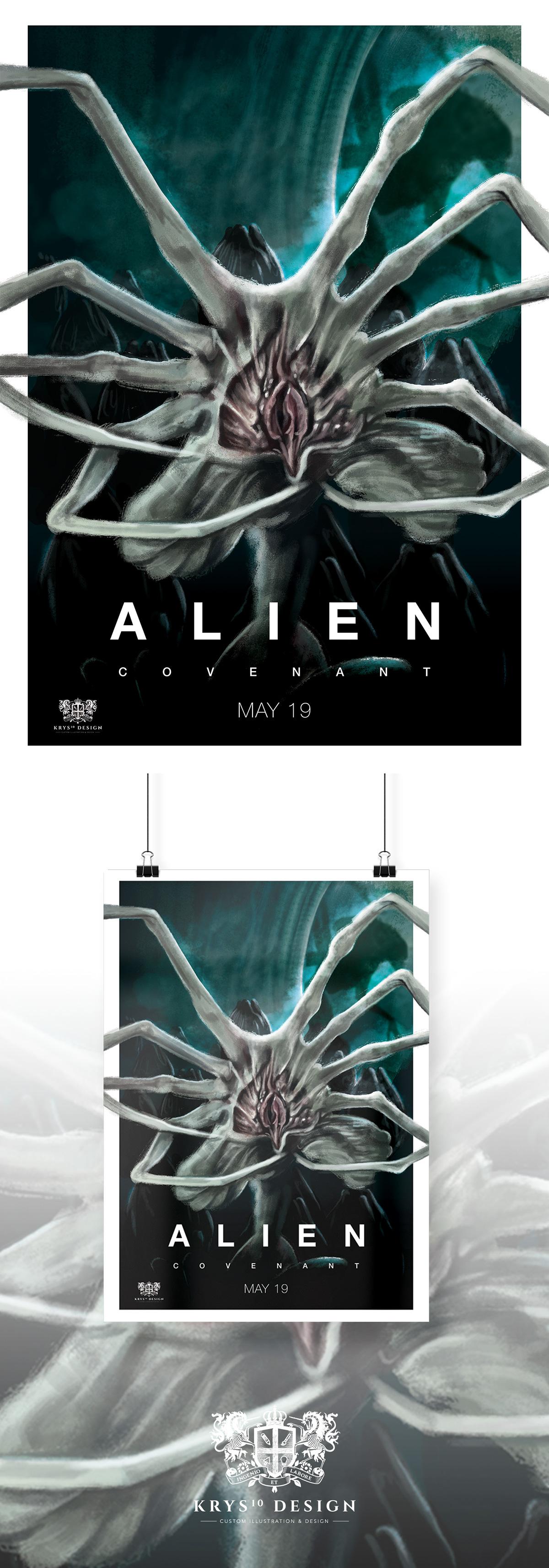Free Hugs Alien Covenant Movie Poster On Behance