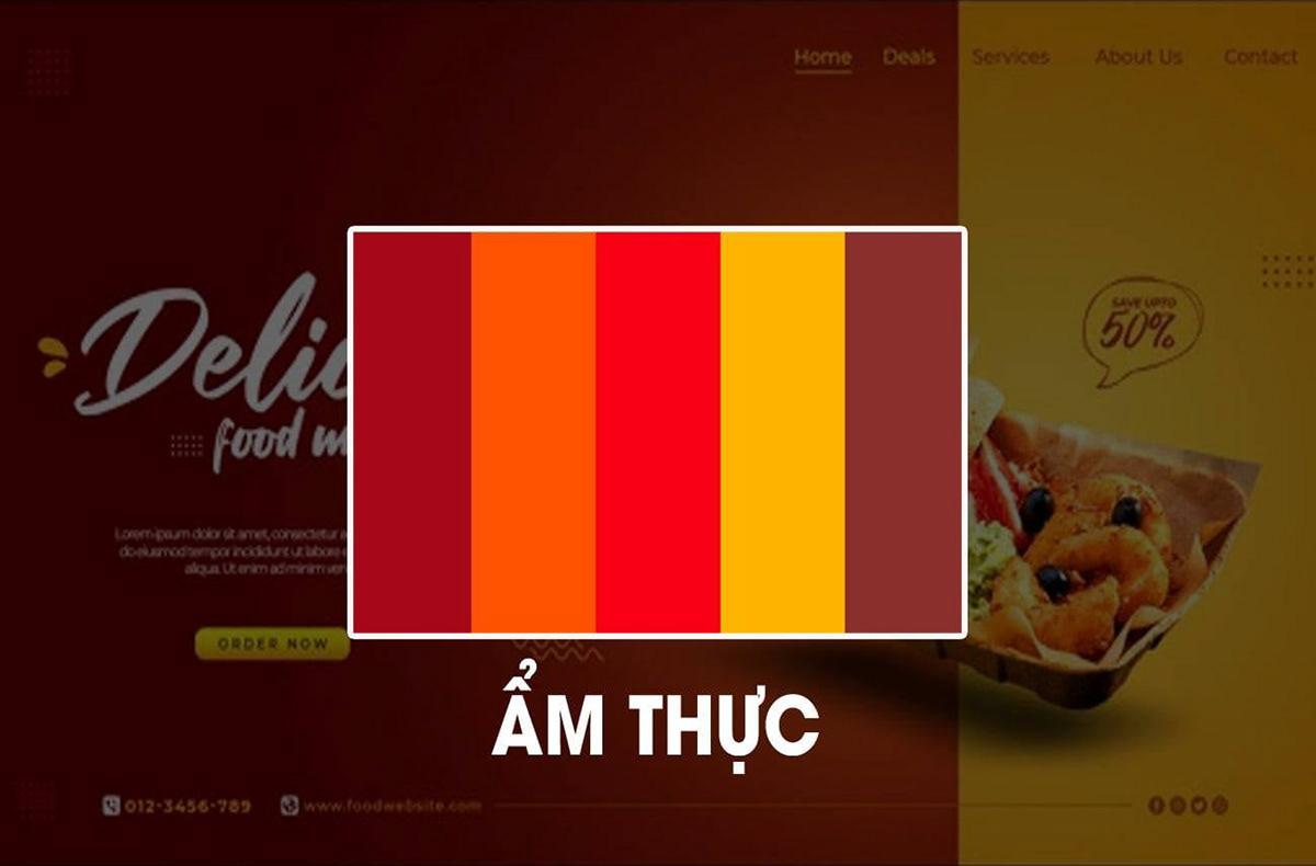 Phối màu thiết kế trong lĩnh vực ẩm thực