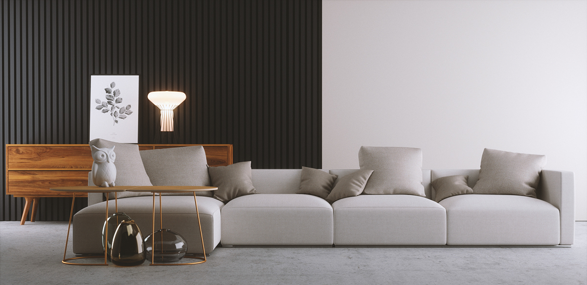 Living Room - Fstorm Render on Behance