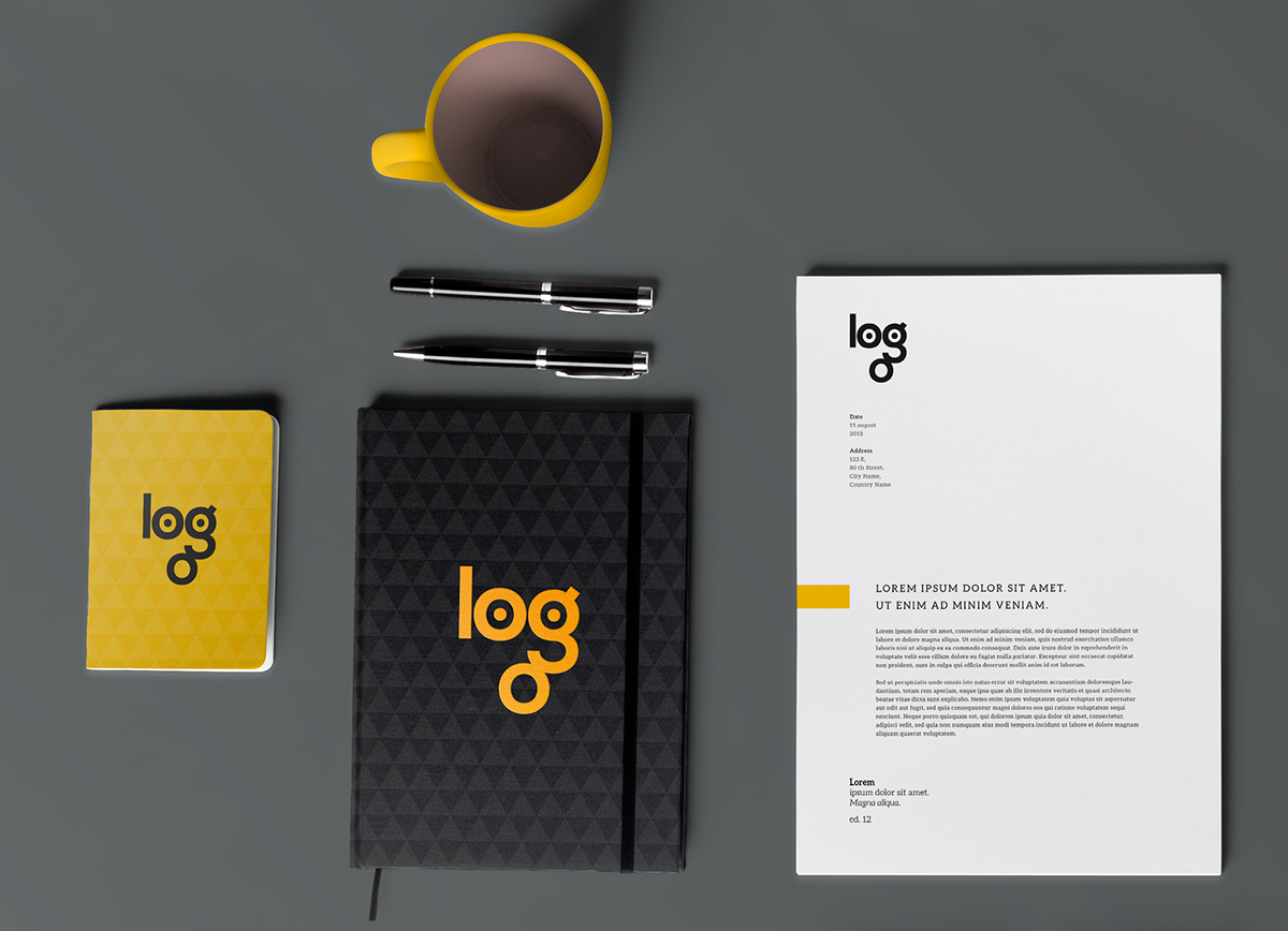 logo Logotipo Logotype face lettering brand corporate Stationery brand identity design inspiration type