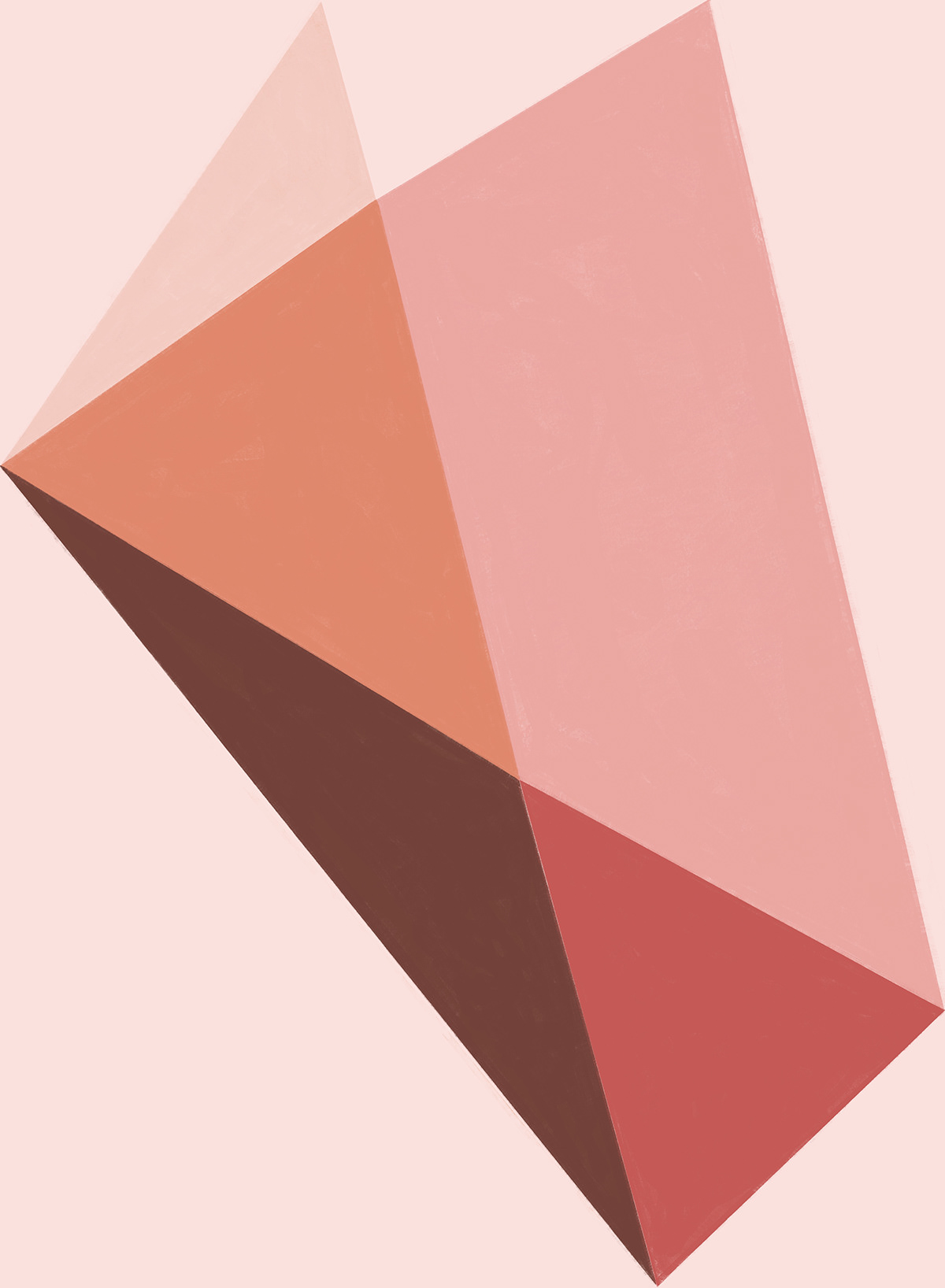 Abstract geometric study in pink stone color palette.