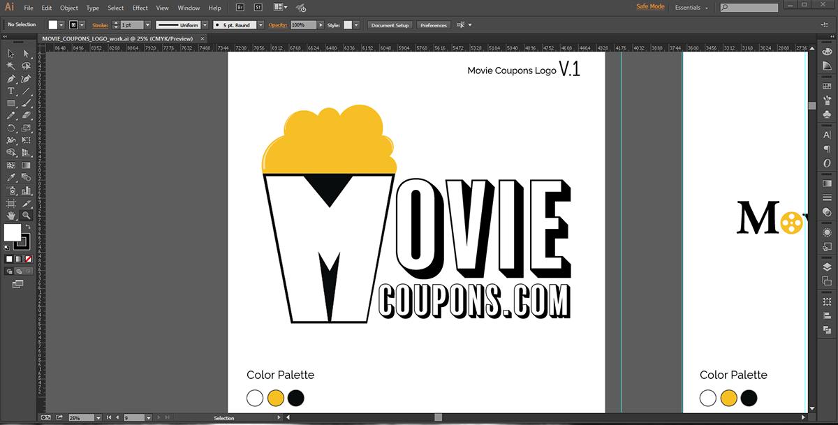 Movie Coupon Logo On Behance