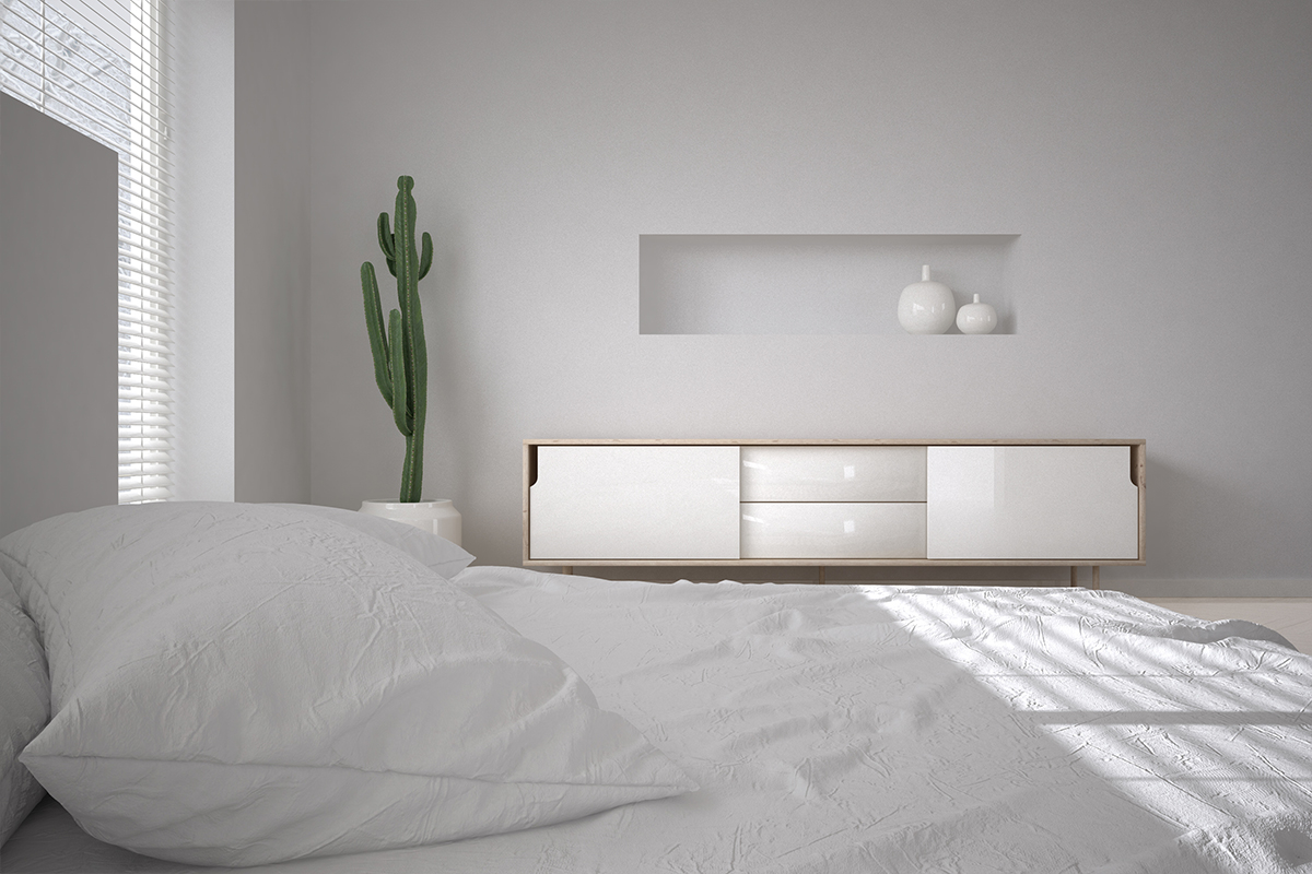 Cgi Just A Minimal White Bedroom On Behance