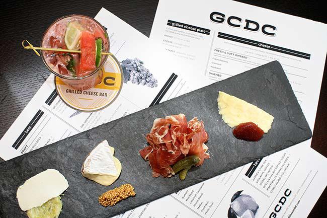 GCDC Grilled Cheese Bar Restaurant Branding, Menu Design, Washington, DC