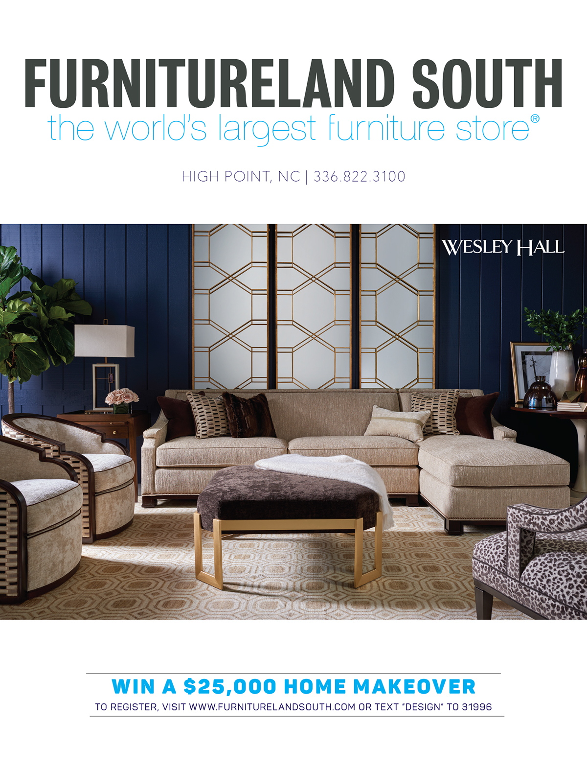 Print advertising for furnitureland south on pantone for Furnitureland south