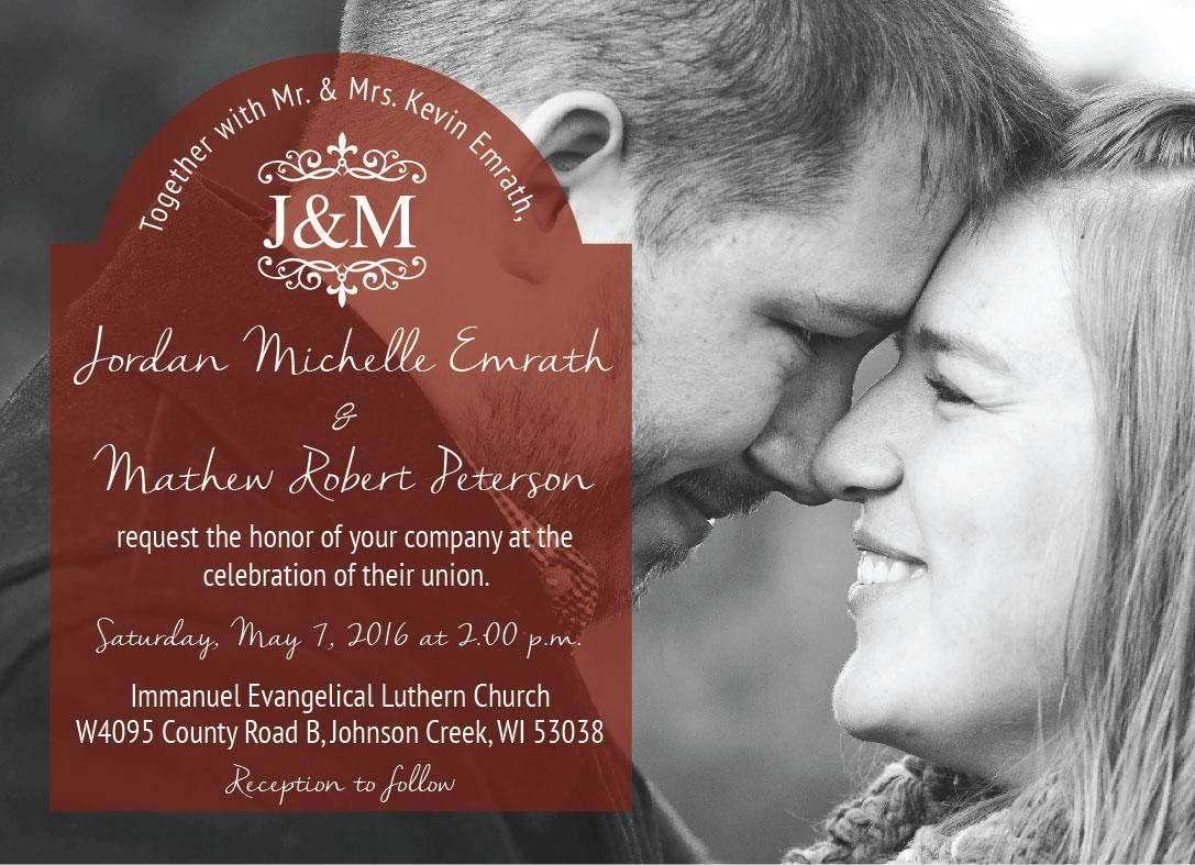 Jordan & Mat\'s Wedding Invitation on Behance