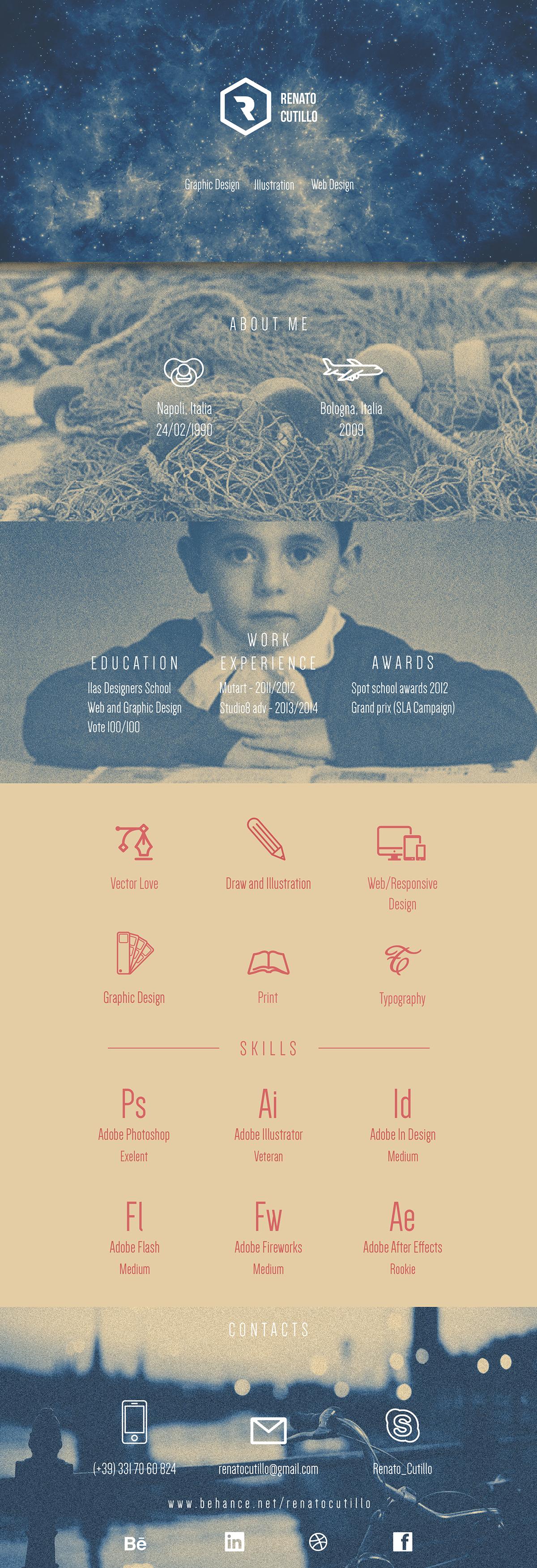 resume cv renato,cutillo graphic design,Design Art Digital